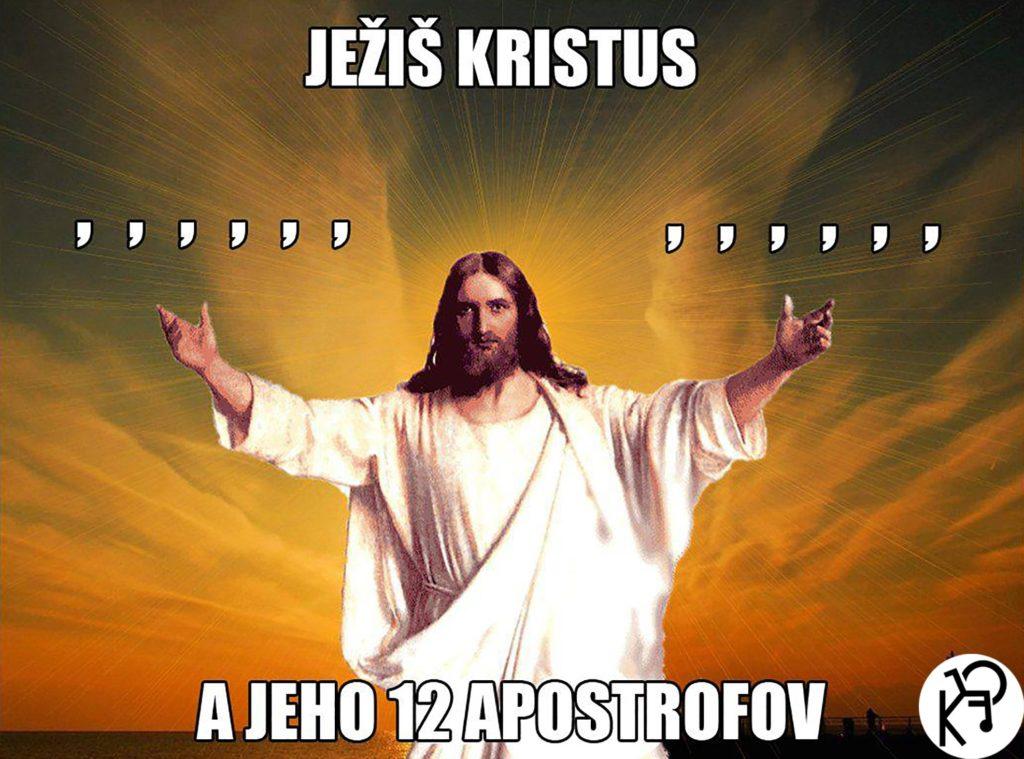 Ježiš Kristus a jeho 12 apostrofov