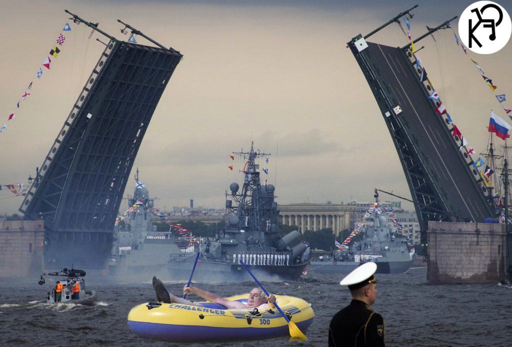 Den námořnictva v Petrohrade