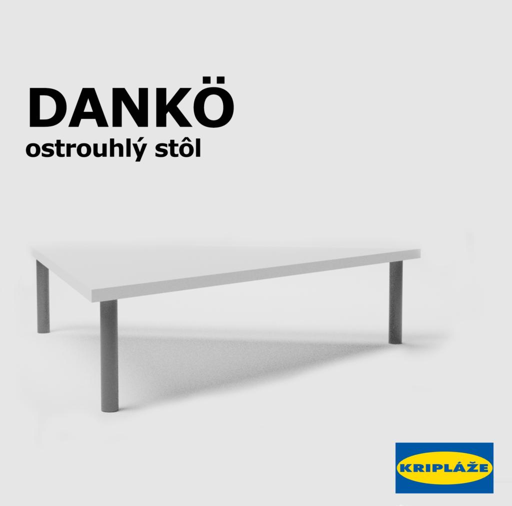 Ostroúhly stôl IKEA