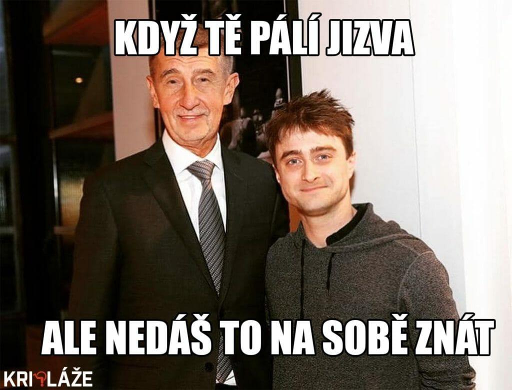 Babiš s Harry Potterom