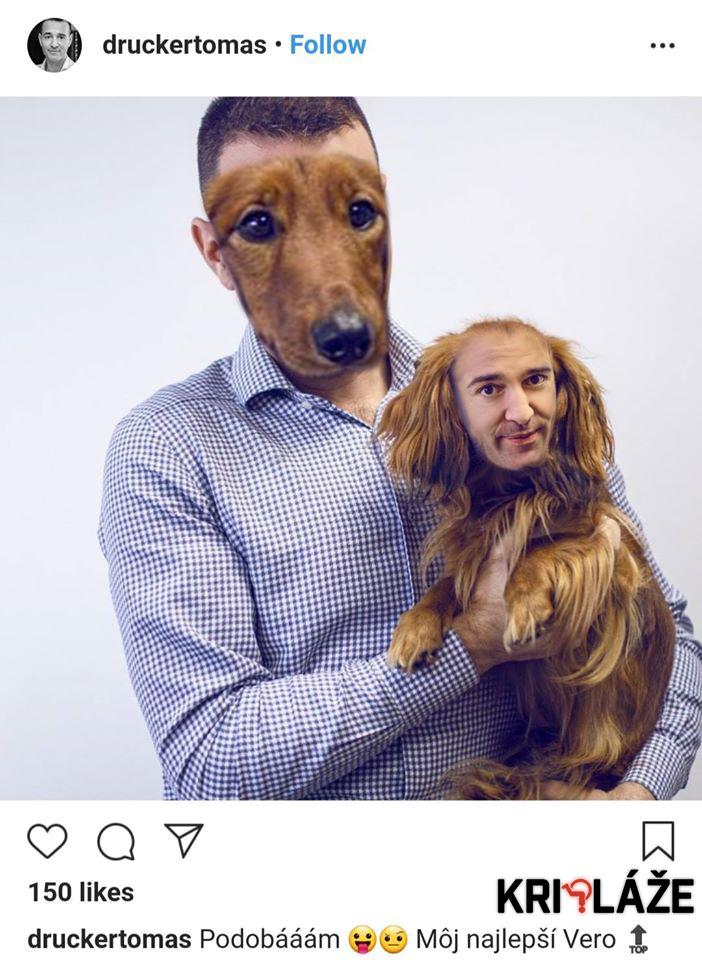Tomáš Drucker so psom