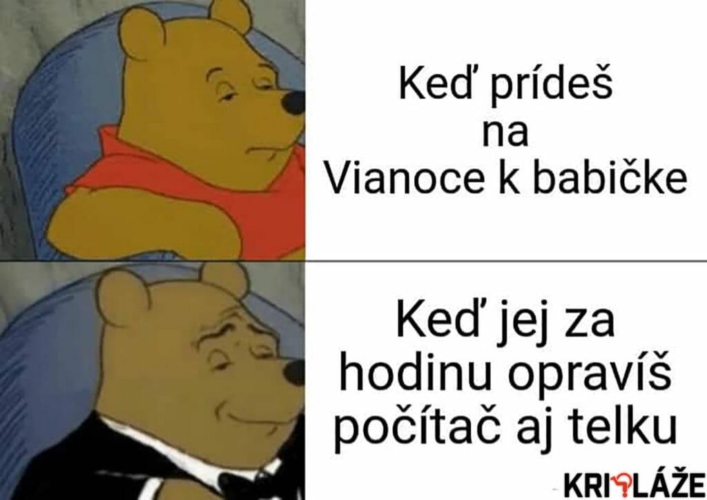 Winnie the Pooh u babičky