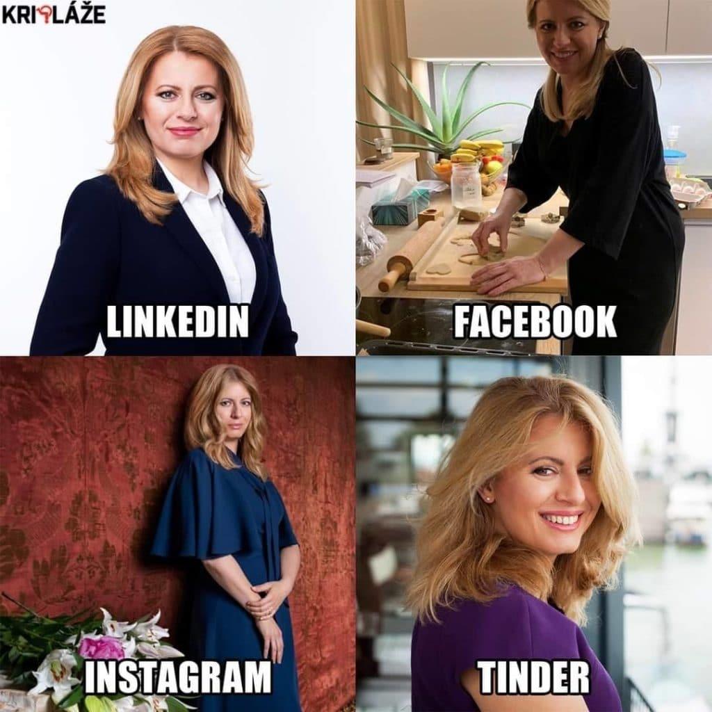 Zuzka na sociálnych sieťach