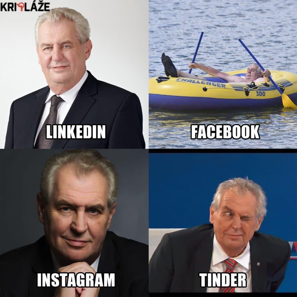 Miloš Zeman sociální sítě