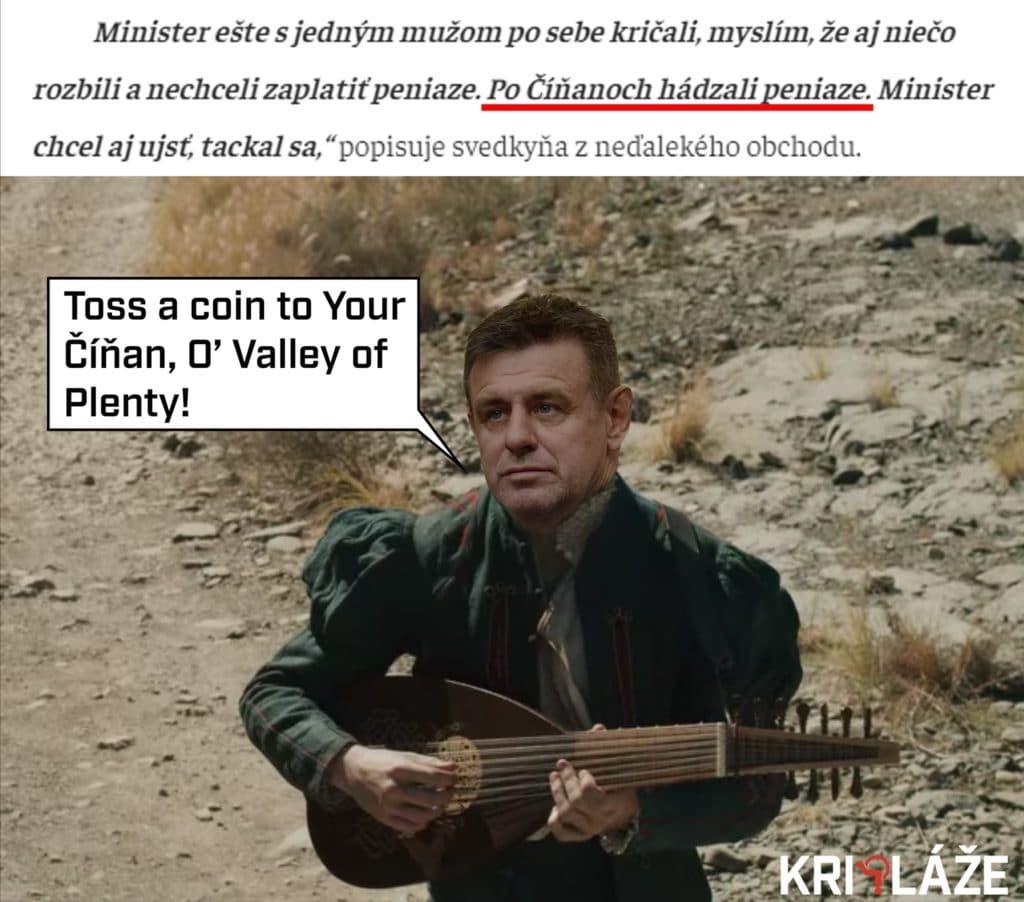 Toss a coin to your Číňan